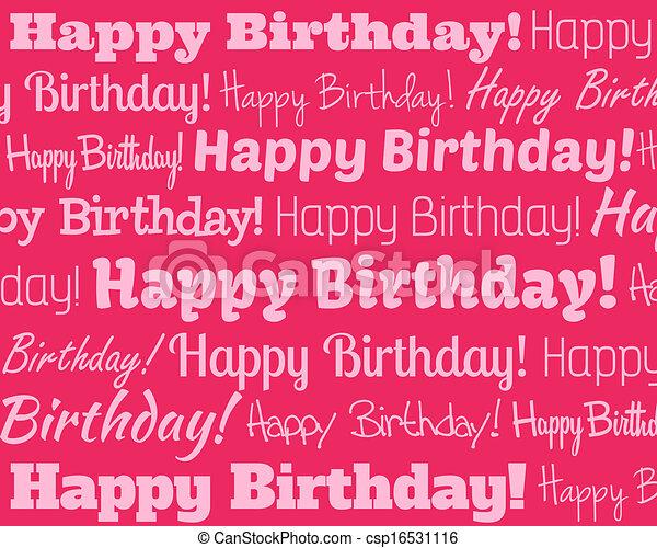Happy Birthday - csp16531116