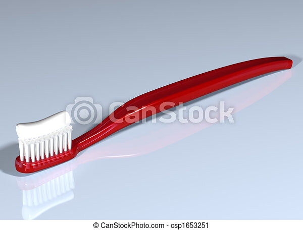 Shiny red toothbrush - csp1653251