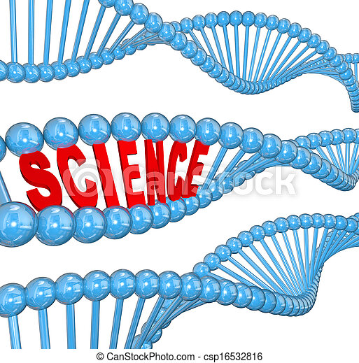 DNA Science Word Biology Learning Education - csp16532816