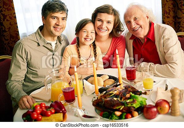 Thanksgiving evening - csp16533516