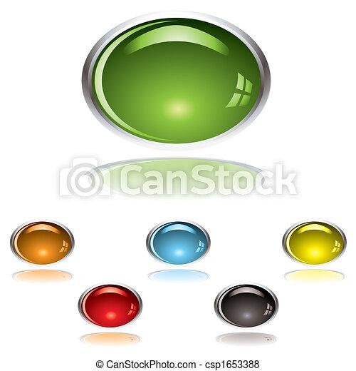 lozenge gel button - csp1653388