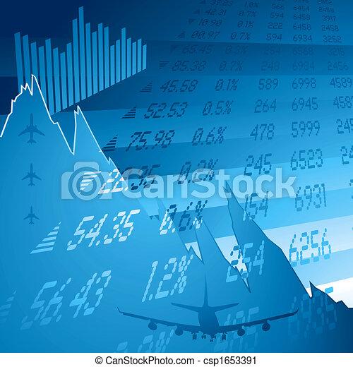 financial crash blue - csp1653391