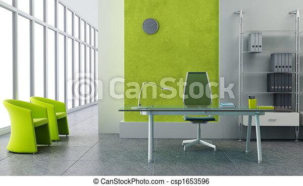 modern office interior - csp1653596