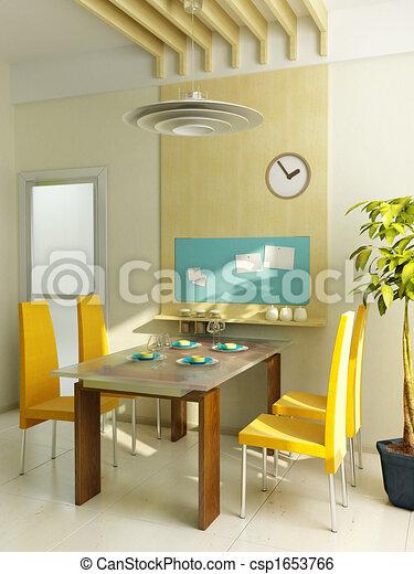 modern kitchen interior - csp1653766