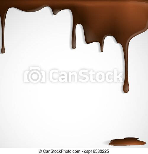 Vector Illustration of Melted Chocolate Dripping. Vector ... Melted Chocolate Clip Art