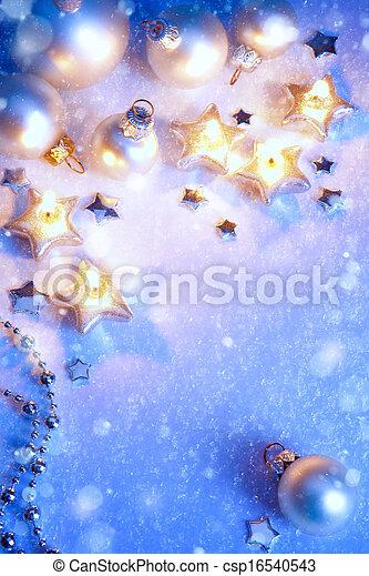 Art Christmas greeting card  - csp16540543