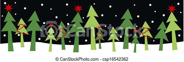 merry christmas happy holidays - csp16542362