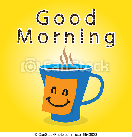 Good morning clipart good morning with coffee and