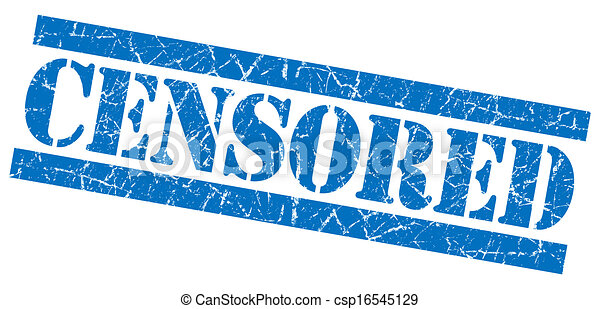 Clip Art of Censored grunge blue stamp csp16545129 - Search ...