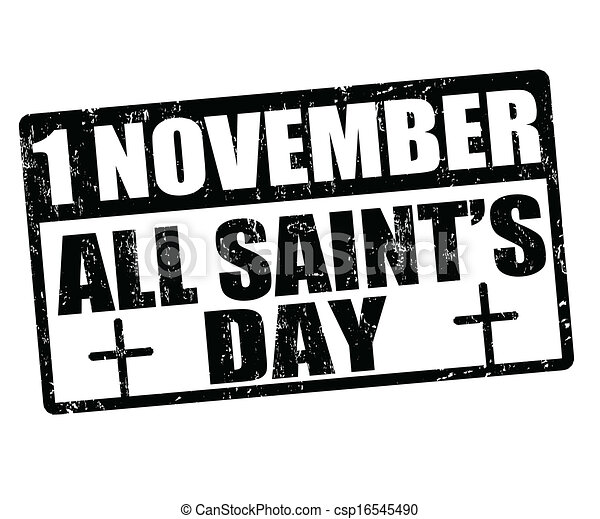 All saint's day grunge rubber stamp,... csp16545490 - Search Clip Art ...