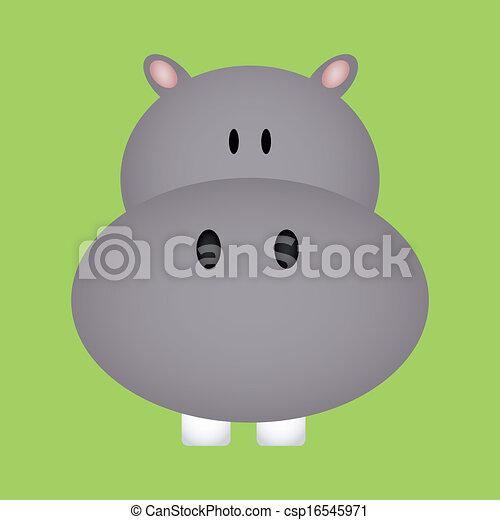 Vectors Illustration of Hippo - abstract cute hippo face ...  Vectors Illustr...