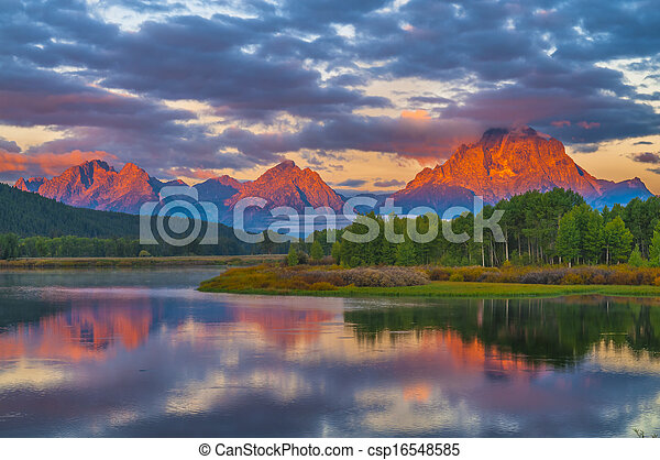 Beautiful Sunrise in the Mountains - csp16548585