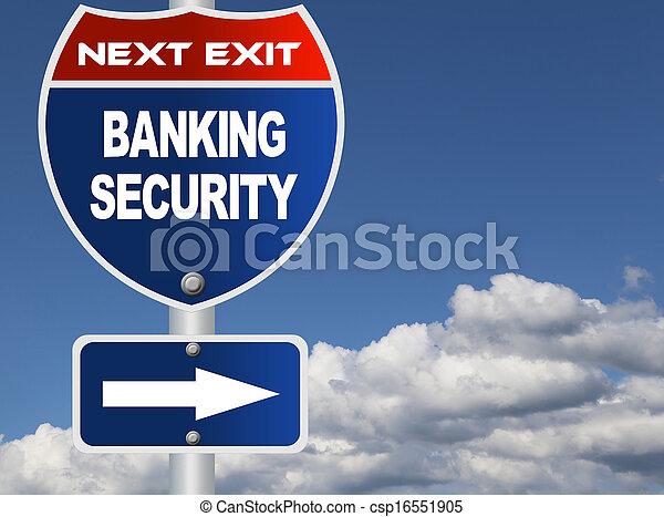 Banking security road sign  - csp16551905