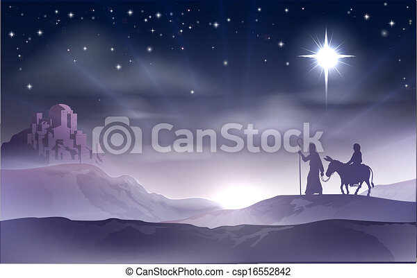 Mary and Joseph Nativity Christmas  - csp16552842