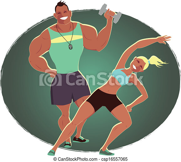 Female fitness instruc...