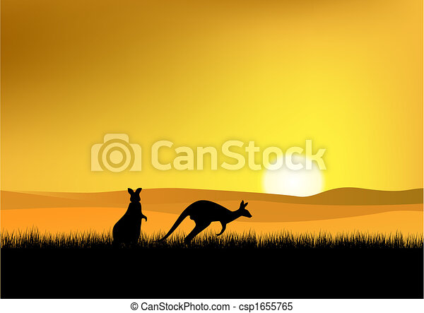 Sunset in Australia - csp1655765