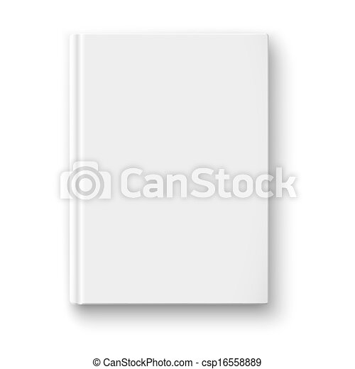 Blank Book Cover Clipart Blank book cover template on