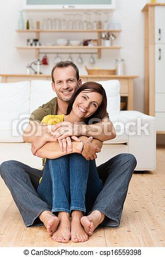 Portrait of a happy loving adult couple - csp16559398