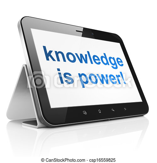 Education concept: Knowledge Is power! on tablet pc computer - csp16559825