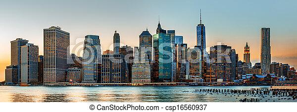 New York City skyline panorama - csp16560937