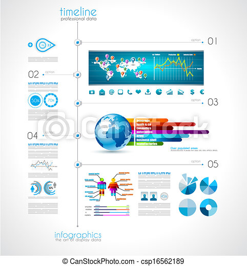Timeline to display your data with Infographic elements - csp16562189