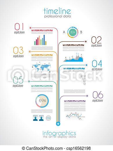 Timeline to display your data with Infographic element - csp16562198