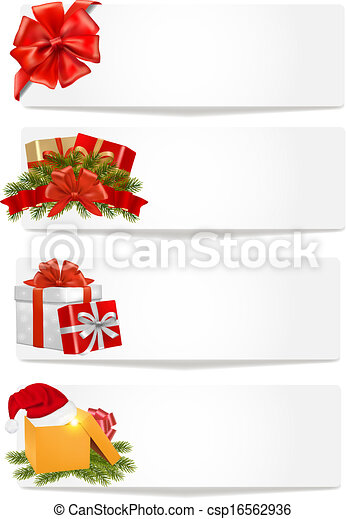 Set of winter christmas banners. Vector illustration. - csp16562936