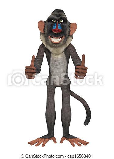Illustration de babouin csp16563401 recherchez des - Dessin de babouin ...