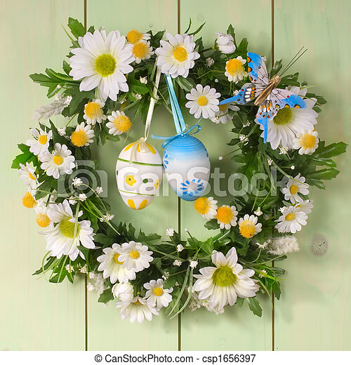 easter wreath - csp1656397