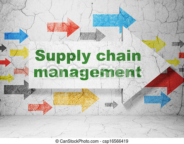 Supply Chain Management Icon Supply Chain Management on
