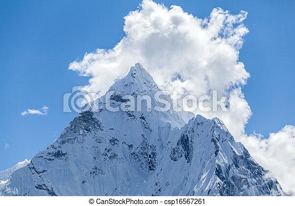 Mountain peak, Mount Ama Dablam - csp16567261
