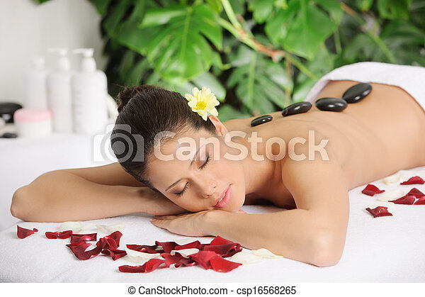 Beautiful Woman Relaxing At A Spa - csp16568265