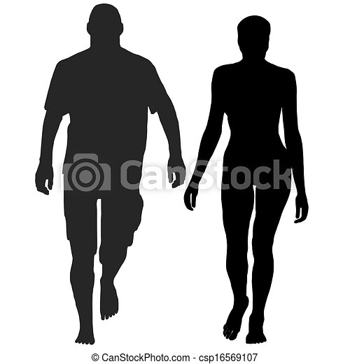 Vector Clipart of person walking bare foot and relaxed csp16569107 ...