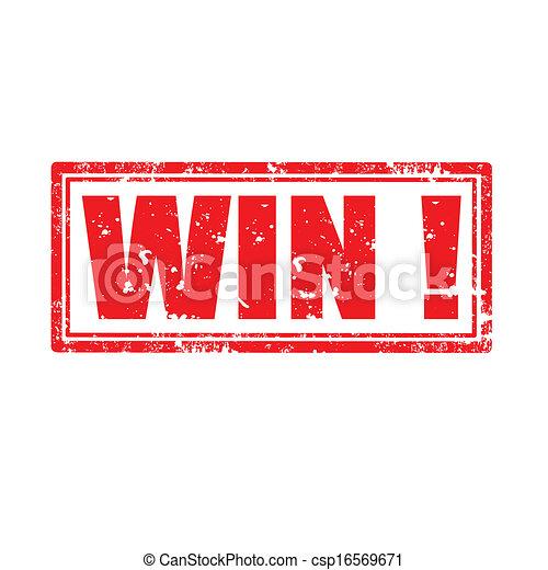 Win!-stamp - csp16569671