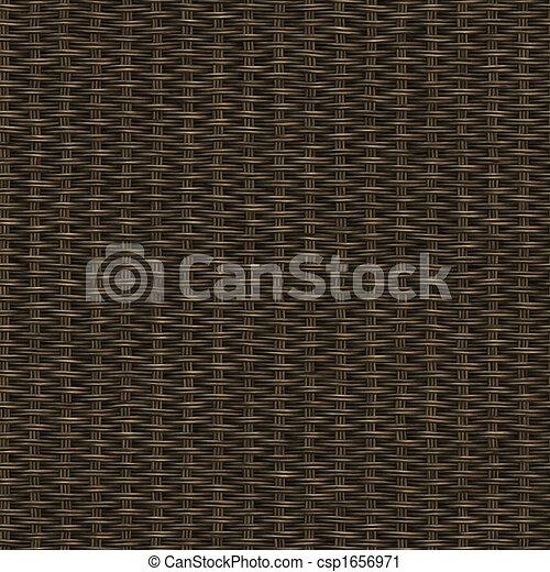 dark wooden weave - csp1656971