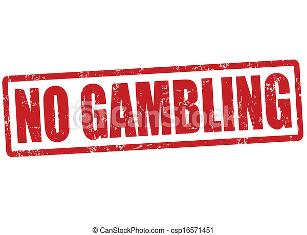 No gambling stamp - csp16571451