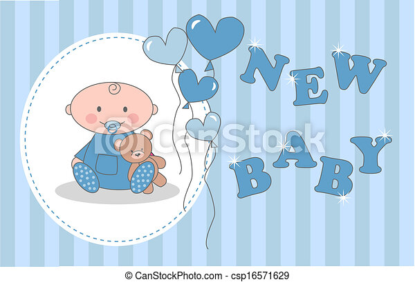 vector baby shower newborn baby stock illustration royalty free