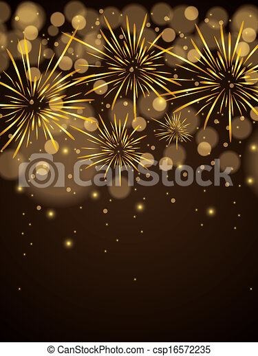 Abstract winter New Year background  - csp16572235