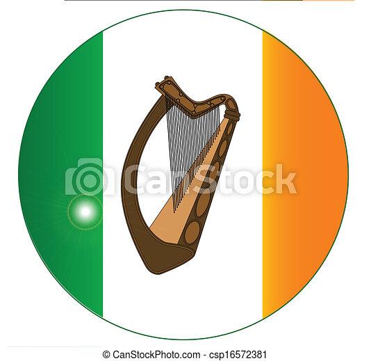 Clipart Vector of Irish step dance on the Irish flag csp18187958 ...