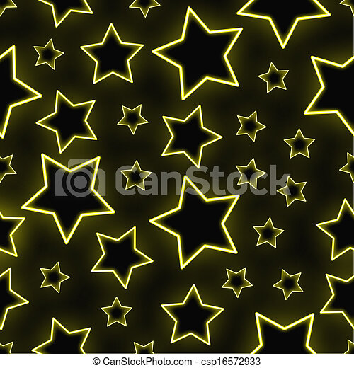 Seamless neon stars background - csp16572933