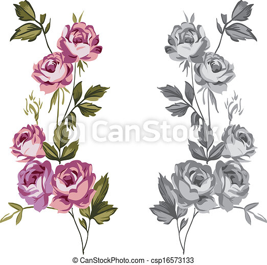 Decorative roses - csp16573133