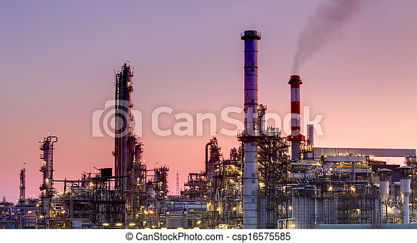 Factory - oil industrial building - csp16575585