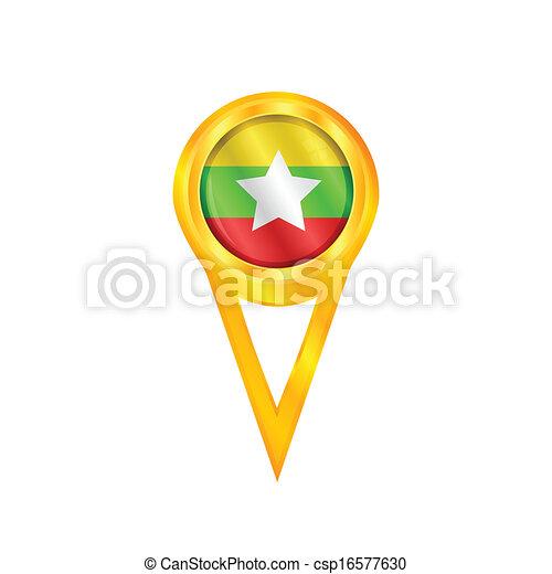 Myanmar pin flag - csp16577630