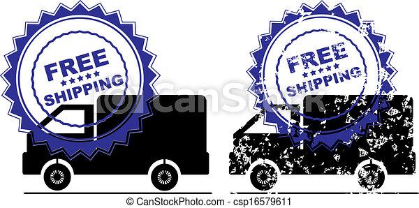 Free Shipping Retail Promotion Stam - csp16579611