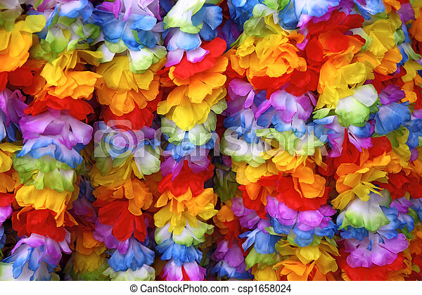 Hawaiian garlands - csp1658024