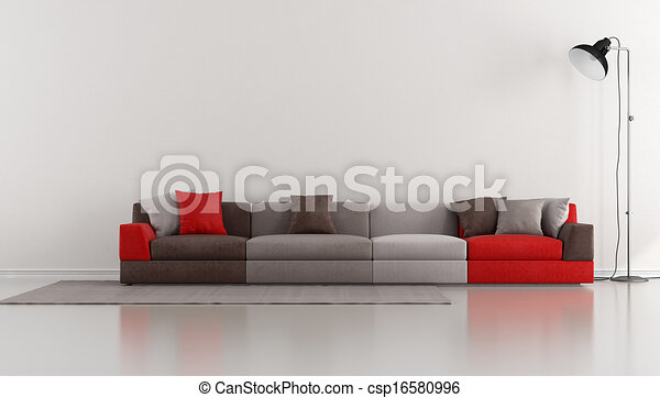 stock illustration von minimalist aufenthaltsraum bunte modern sofa boden csp16580996. Black Bedroom Furniture Sets. Home Design Ideas
