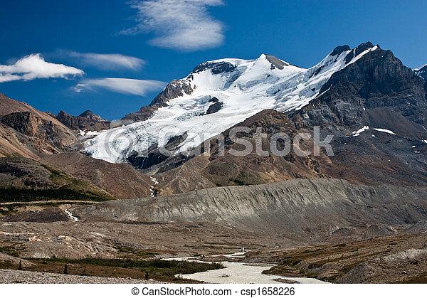 slow melt of a glacier - csp1658226