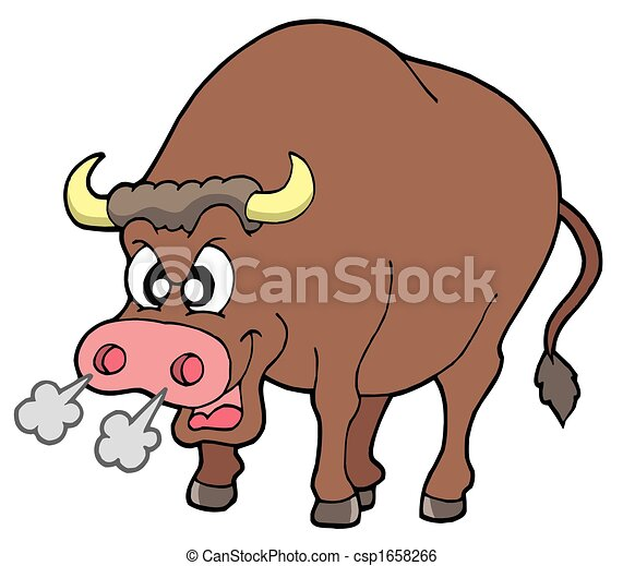Angry bull - csp1658266