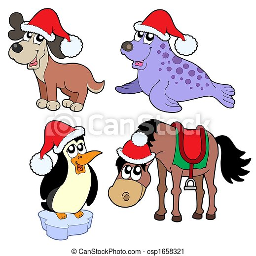 Christmas animals collection - - csp1658321