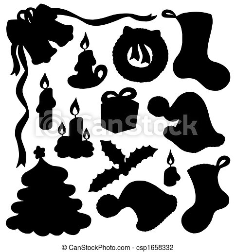 clip art von 01 silhouette weihnachten sammlung. Black Bedroom Furniture Sets. Home Design Ideas